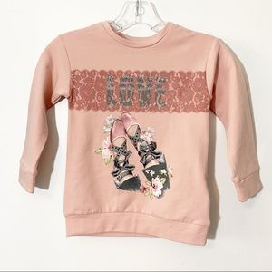Mayoral Sweatshirt Dance Shoes Pink Size 5